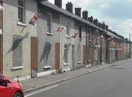 bedecked street