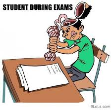 student during exams