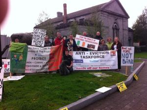 anti eviction protest