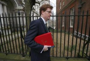 Britain's Chief Secretary to the Treasury Danny Alexander arrives in Downing Street for a cabinet meeting on budget day, in central London