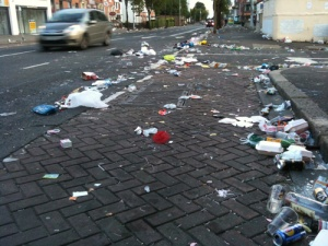 litter after orangefest