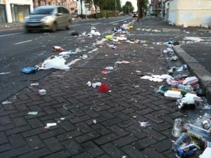 litter after orangefest