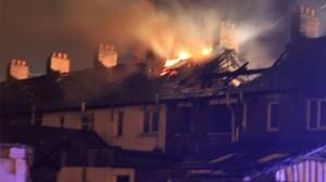 burning belfast houses
