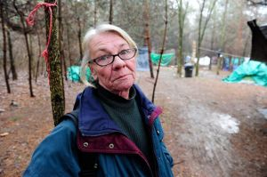 Jackie tent city resident