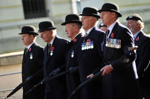 soldiers in bowler hats