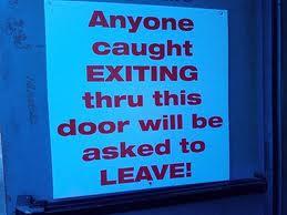 exiting thru door