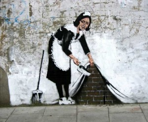 banksy housemaid