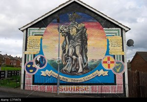 lenadoon saoirse freedom republican memorial cuchulainn wall mural painting west belfast northern ireland