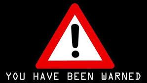 warned 2