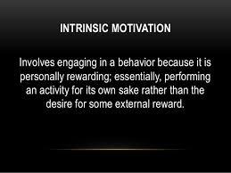 intrinsic motivation