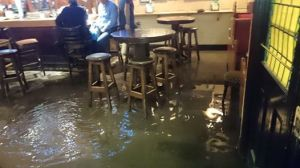 flood in pub
