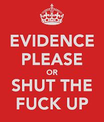 evidence please
