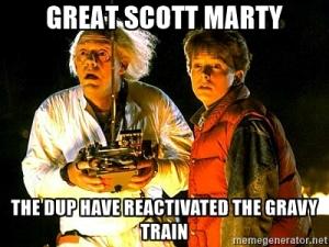 dup gravy train